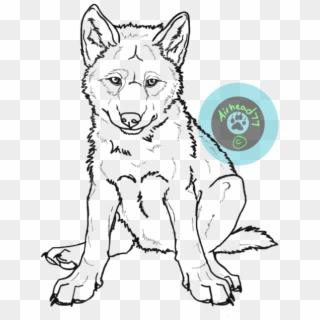 Drawn Wolf Pup Drawings Of Wolf Pups Hd Png Download 600x867 360417 Pngfind