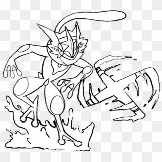 Ash Coloring Pages Related Pokemon Drawings Ash Greninja Hd Png Download 1024x1004 403534 Pngfind