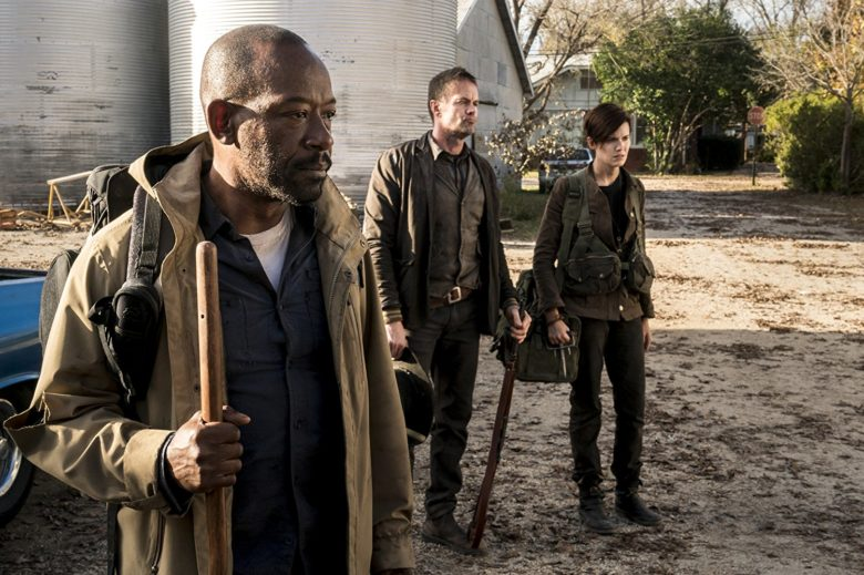 Garret Dillahunt Lennie James and Maggie Grace in Fear the Walking Dead 2015