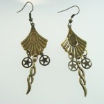 Metal Dangle Bronze Gypsy Earrings Star Twist
