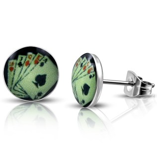 stainless steel stud earrings