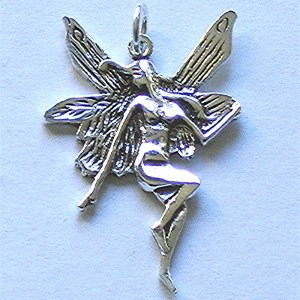 Sterling Silver necklace pendant fairy jewellery  http://spoilmesilly.com.au/