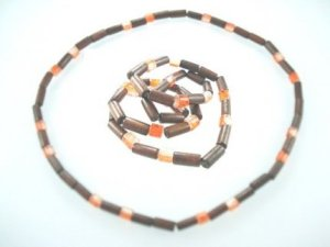 orange wooden beaded jewellery http://spoilmesilly.com.au/