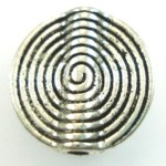 Silver Swirl Round Large Bead – 1