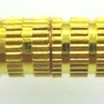 Gold Screw Barrel Clasps 10 pieces