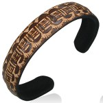 Mens Womens Handmade Leather Brown Tribal Cuff Bracelets