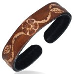 Leather Brown Cuff Bracelet