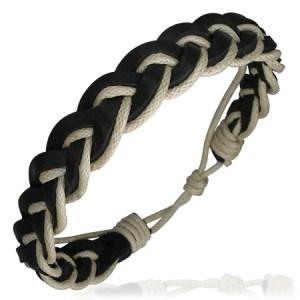Leather Brown Cream Bracelet