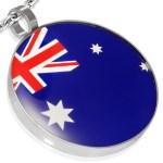 Stainless steel Flag Australia Pendant