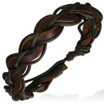 Leather Mens Womens Handmade Brown Bracelet Anklet