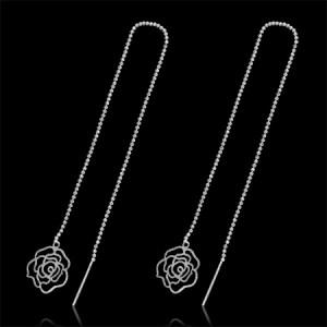 Rose Thread Earrings