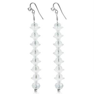 Clear Elegant Crystal Long Earrings