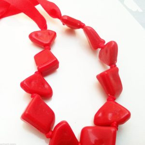 Jewellery-Resin-Extra-Long-48-Red-Necklace-Large-Bracelet-Anklet-Ribbon-New-400740944699-4