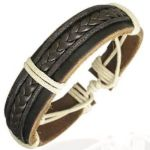 Leather Cord Mens Womens Handmade Bracelet Brown NEW