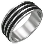 Stainless Steel 3 Rubber Ring NEW