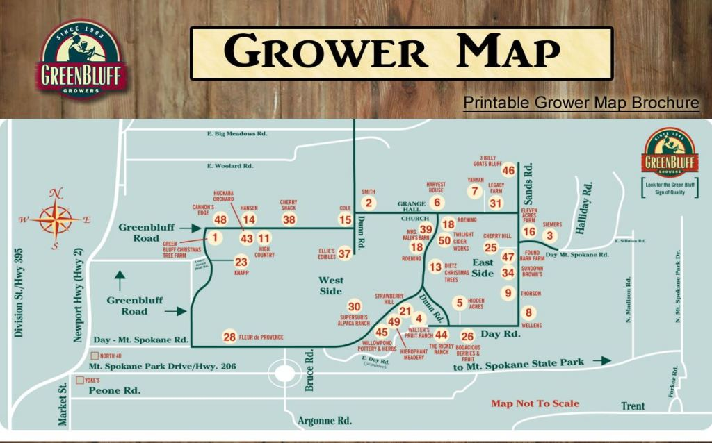 Printable Map Farms Green Bluff Grower