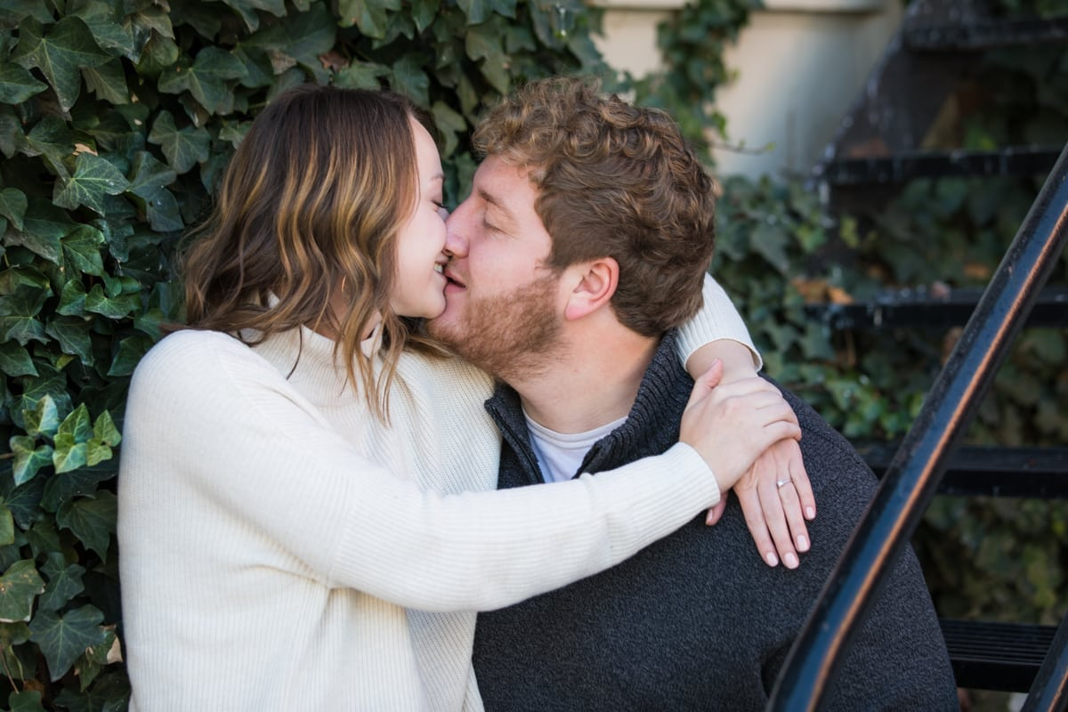 Engagement photos in downtown spokane