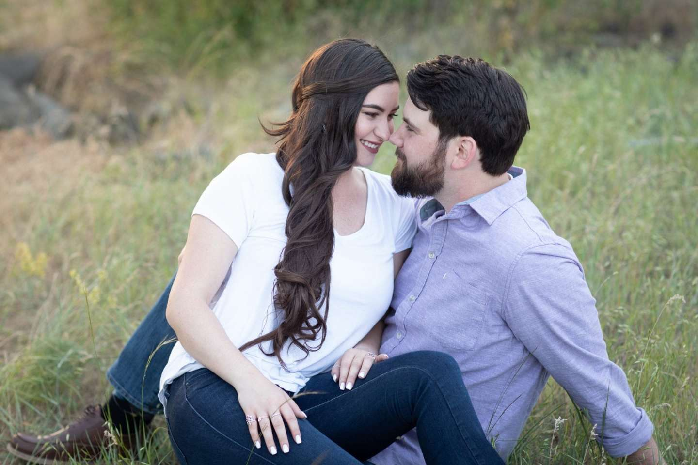 Engagment portraits Spokane River Franklin Photography Studio