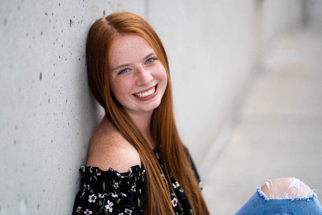 adorable senior photo of red head