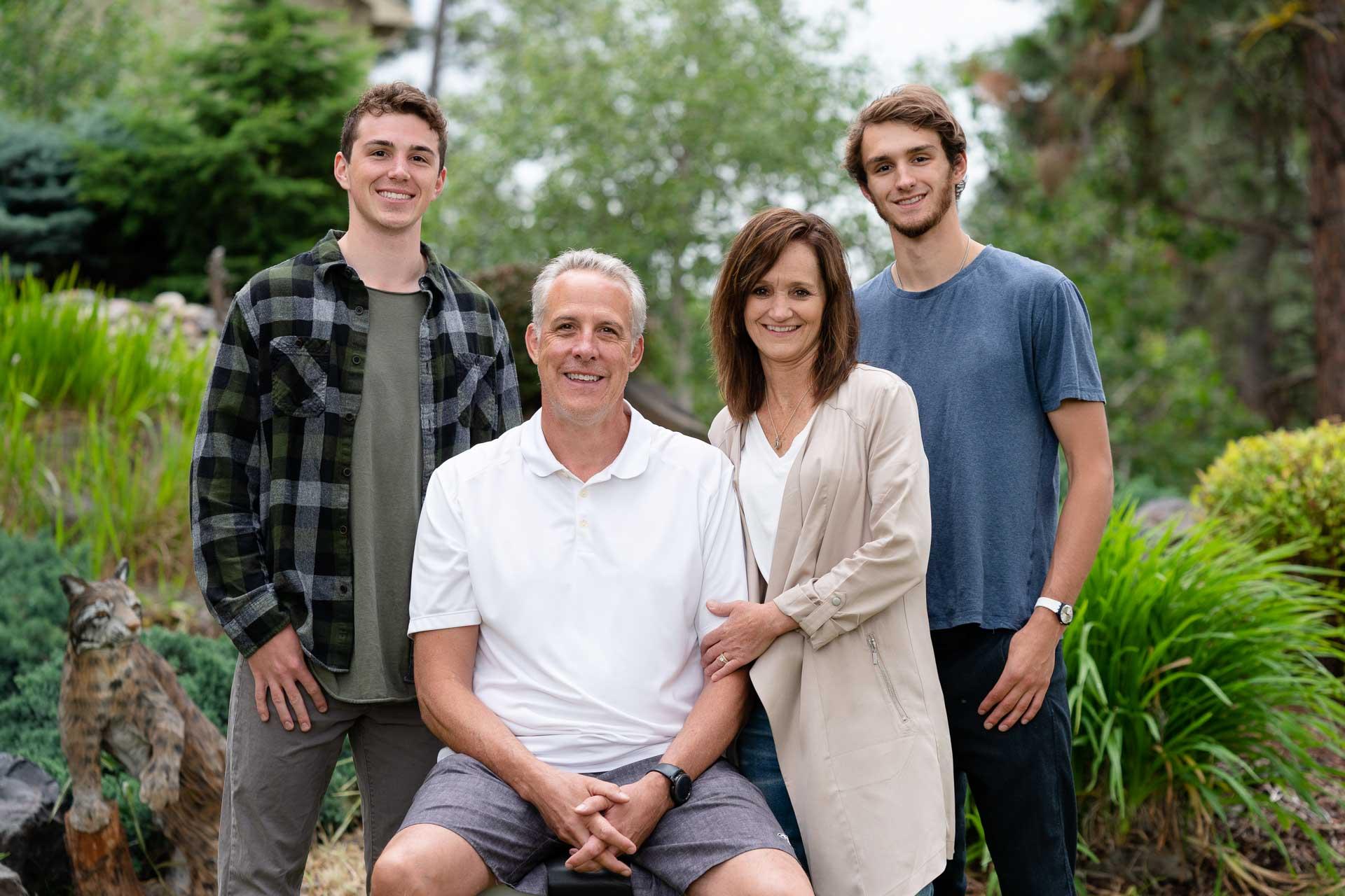 Backyard family photo