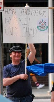 A man counter-protests a rally on Thursday in Spokane/Tracy Simmons - SpokaneFAVS
