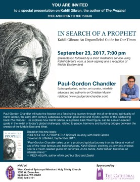 In Search of a Prophet: Kahlil Gibran – An Unparalleled Guide for Our Times @ West Central Episcopal Mission/ Holy Trinity Church | | |