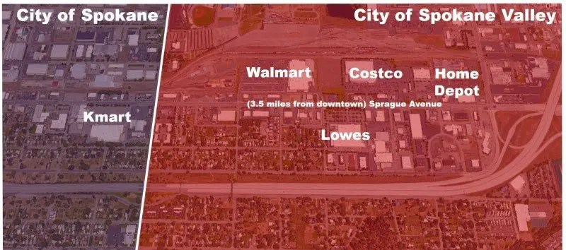 Here's where most of the South Hill shops.