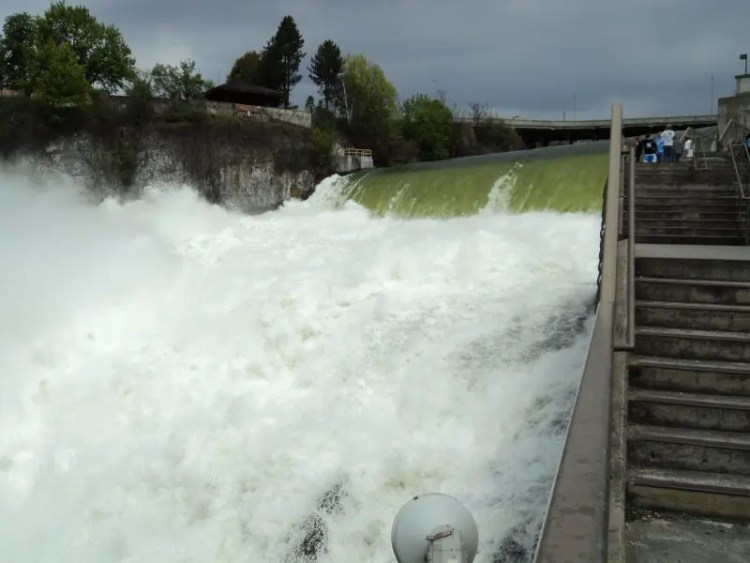 The Viewing Stairs Of The Lower Spokane Falls