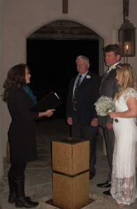 Wedding officiant at Chapel Dulcinea