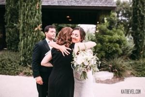 me hugging bride