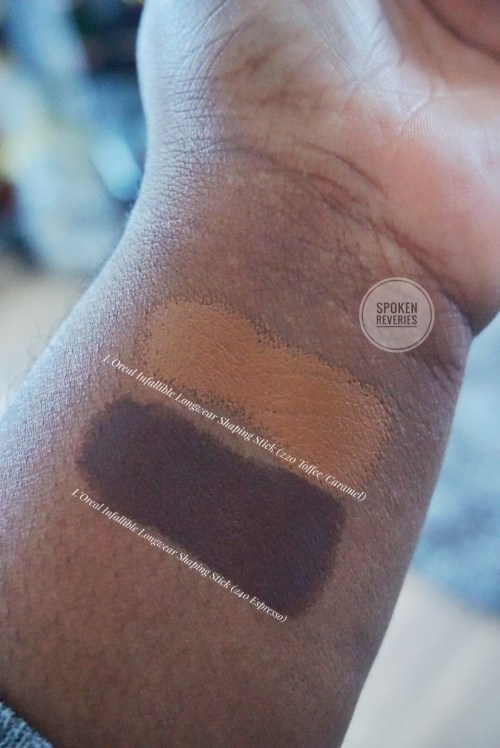 L'Oreal Shaping Stick Foundation Swatches