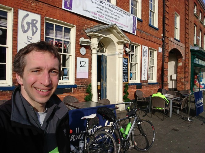 Selfie outside Gallery Bistro in Fakenham
