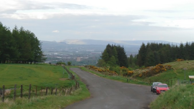 Looking toward Glasgow from Gleniffer Braes
