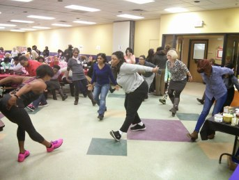 Attendees enjoyed a Zumba demonstration lead by Val Turner