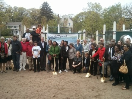 MLK Jr Park playground groundbreaking. The ribbon cutting for the new playground will take place August 22.