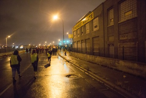 Protesters took to the streets en route to I-94