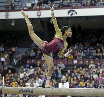 Ciara Gardner on the balance beam