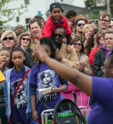 Prince fans mourned and celebrated the legacy of the late music pioneer.