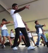 Young performers at the Rondo Days Festival, July 16, 2016