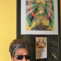Painter, Esther Osayande part of the ROHO Collective shows off her artwork
