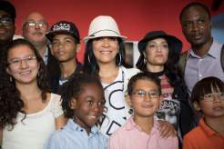 Sheila E. and students from Twin Cities Mobile Jazz Project