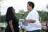 Valerie Castile (left) and Chauntyll Allen (right) converse at event