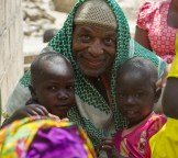 Steve Floyd with children from the Fulani tribe