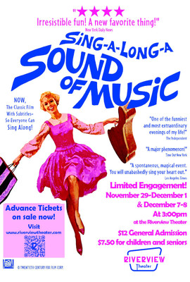 Sing-a-Long-a Sound of Music at the Riverview Theater @ The Riverview Theater