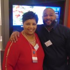 (l-r) Faith Johnson Patterson and Khalid El-Amin