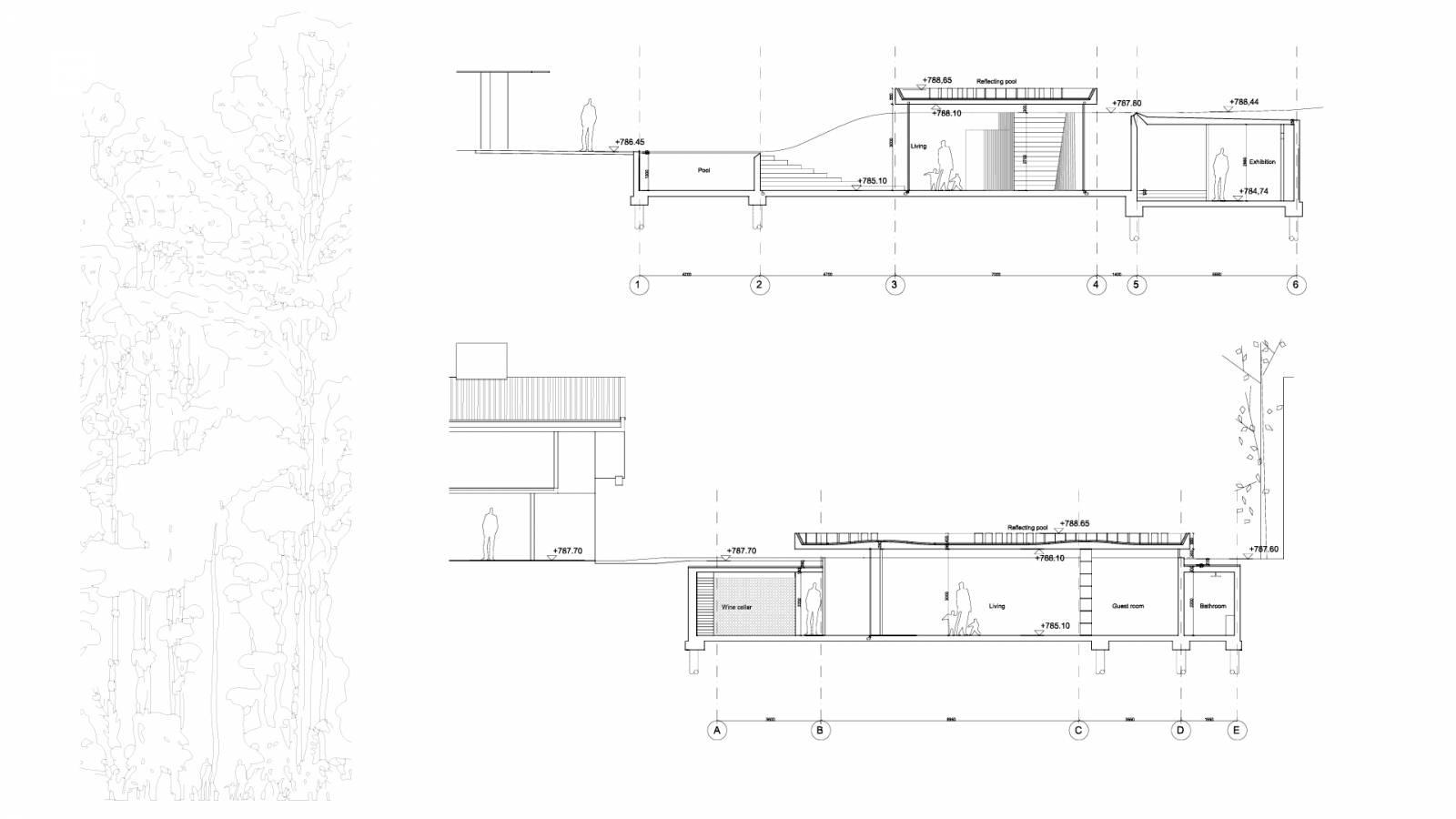 architecture section diagram 1999 ford taurus wiring sao paulo art pavillion spol of sunken architects