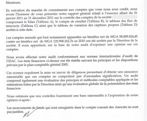 Rapport du commissaire aux comptes page 1