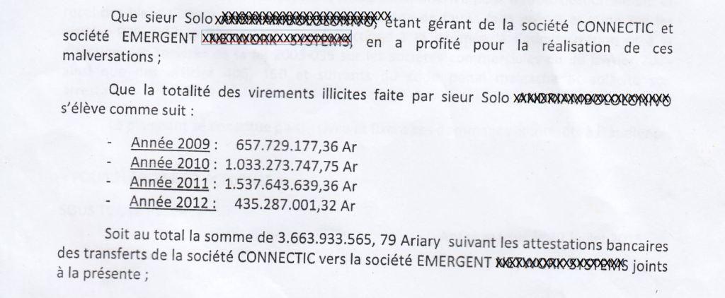 CONNECTIC envoie des virements internationaux vers EMERGENT 1 - Les 76 virements internationaux de1.047.060 euros que RANARISON Tsilavo considèrent comme illicites ont une contre partie et les 76 OVs ont été signés par le plaignant lui-même : la preuve complète est ici !