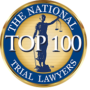 "Aaron Spolin has been ranked on the ""Top 100 Trial Lawyers"" list by the National Trial Lawyers organization."