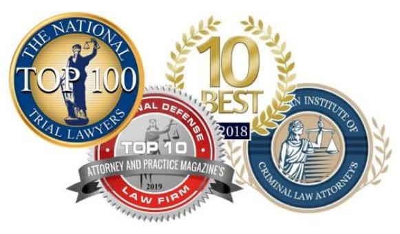 Several award badges